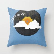 Sunburst Records Throw Pillow