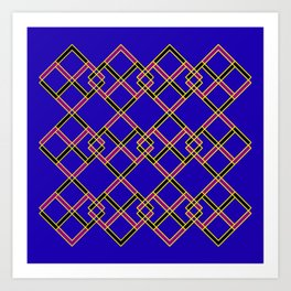 Diagonally Blue Art Print