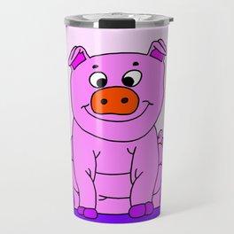 Wide-eyed Piggy Travel Mug