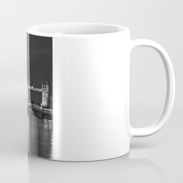 HMS Belfast in Black and White Coffee Mug