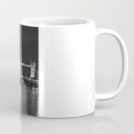 HMS Belfast in Black and White Coffee Mug