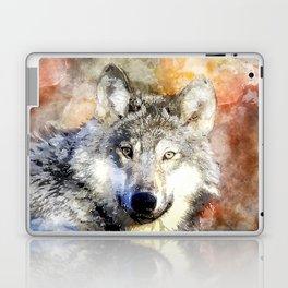 Wolf Animal Wild Nature-watercolor Illustration Laptop & iPad Skin