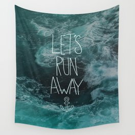 Let's Run Away - Ocean Waves Wall Tapestry