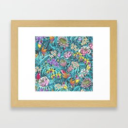 Stand out! (fresh aqua) Framed Art Print