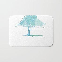 Blue tree Bath Mat
