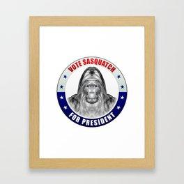 Sasquatch For President Framed Art Print