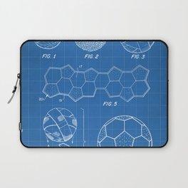 Soccer Ball Patent - Football Art - Blueprint Laptop Sleeve