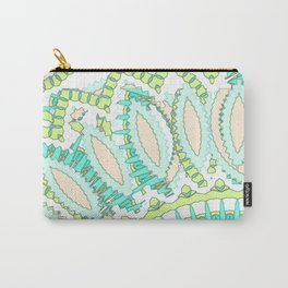 Mandala Explosion in Green & Teal Carry-All Pouch