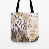 anxiety Tote Bags featuring Anxiety by Gabi Pezoa