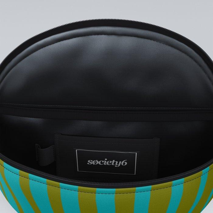 gradient stripes aqua olive Fanny Pack