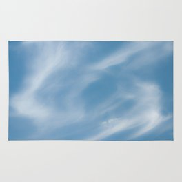 Blue and White Softlight Cloudscape Rug