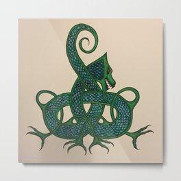 Celtic Dragon Metal Print