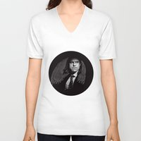 gangster V-neck T-shirts featuring Gangster Engraving by George Peters