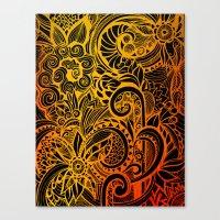 hakuna Canvas Prints featuring Hakuna Matata by Doodle Design