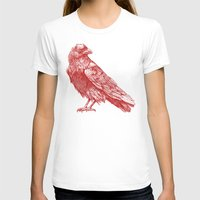 raven T-shirts featuring Red Raven  by Terry Fan