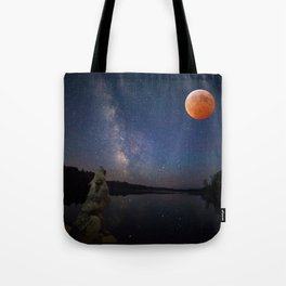Super Blood Wolf Moon Tote Bag