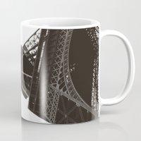 eiffel Mugs featuring eiffel by samantha lawson