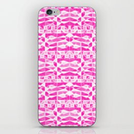 ▲pink & white abstract▲ iPhone Skin