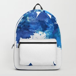 Giza Egypt Skyline Blue Backpack