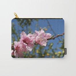 Peach Tree Blossom Against Blue Sky Carry-All Pouch