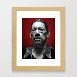 Danny Trejo low poly Framed Art Print
