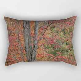 Fall Tree - Red - Square Rectangular Pillow