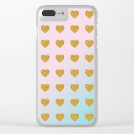 Halcyon Hearts Clear iPhone Case