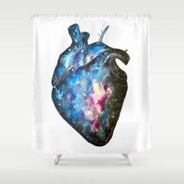 Galaxy heart Shower Curtain