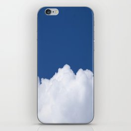 Semi-cloudy Day - Fluffy White Cumulus On The Blue Sky #decor #society6 #buyart iPhone Skin