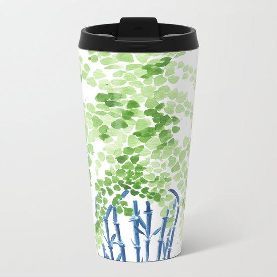 Ginger Jar + Maidenhair Fern Metal Travel Mug