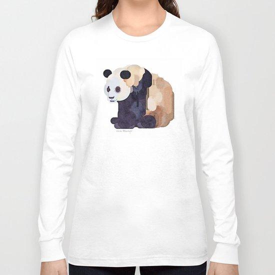 Ice Cream Panda Bear #2 Watercolor Painting Long Sleeve T-shirt