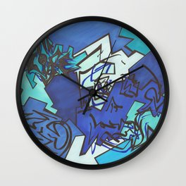 Skull Jiggy Jigsaw Wall Clock
