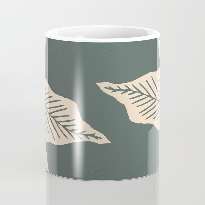 Surrounded by Plant Lovers - Green & Beige Coffee Mug