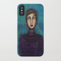introvert iPhone & iPod Cases featuring Introvert by Leanne Schuetz Mixed Media Artist