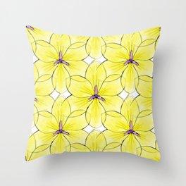 Flower Sketch 3 Throw Pillow