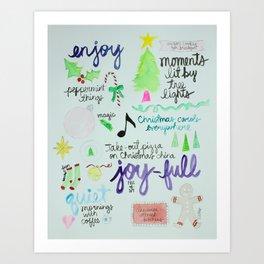 Christmas Manifesto Art Print