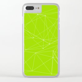 LIGHT LINES ENSEMBLE GREEN Clear iPhone Case