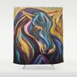 Polychrome Pony Shower Curtain