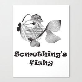 Cute funny fish Canvas Print