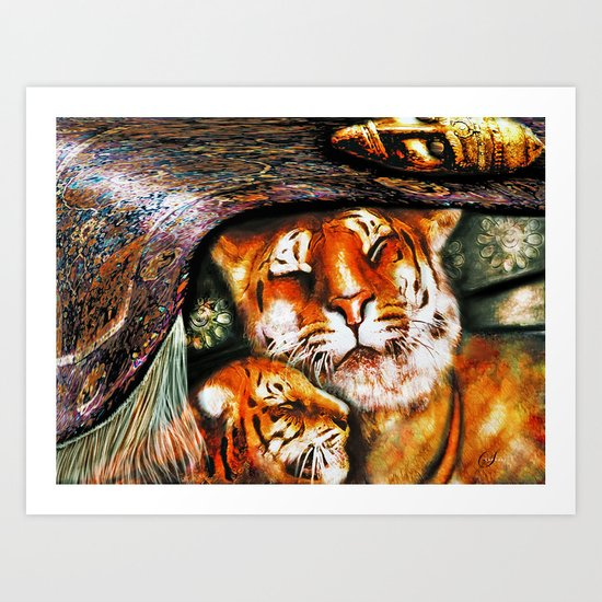 PERSIAN TIGER Art Print