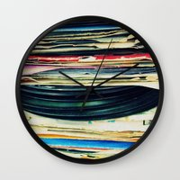 music Wall Clocks featuring put your records on by Bianca Green
