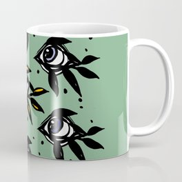 Evil eye _Mystic Eyes_Intuition Awakening _Hand Painted black ink Coffee Mug