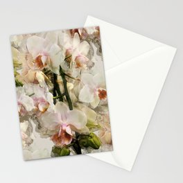 Painted Orchids Stationery Cards