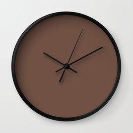 Milk Chocolate Brown Solid  Wall Clock