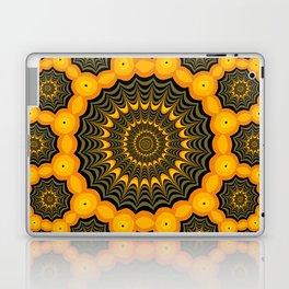 Spider webs, Halloween fractal art Laptop & iPad Skin