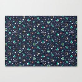 Lets take a walk (it's dark) pattern Canvas Print
