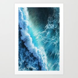 Waving Blue Art Print