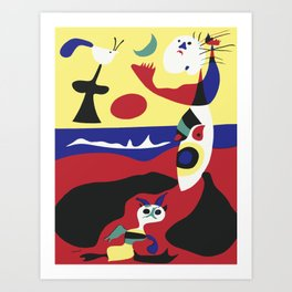 Joan Miro Summer 1938 Artwork for Wall Art, Tshirts, Prints, Posters, Men, Women, Youth Art Print