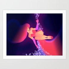 Jessica Rabbit_drawn with an iPad Art Print