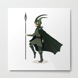 Scandinavian god Loki Metal Print